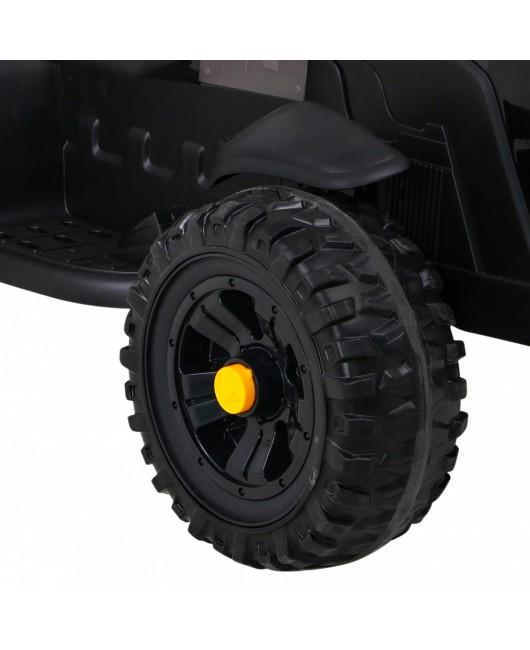 Elektrický traktor Titanium s vlečkou čierny
